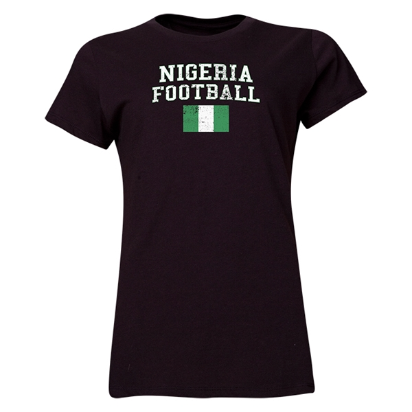 Nigeria Women's Football T-Shirt (Black)