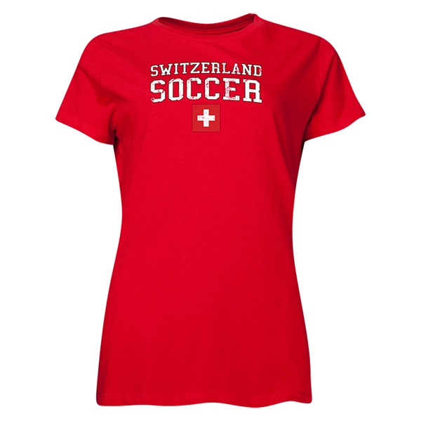 Switzerland Women's Soccer T-Shirt (Red)