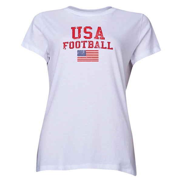 USA Women's Football T-Shirt (White)