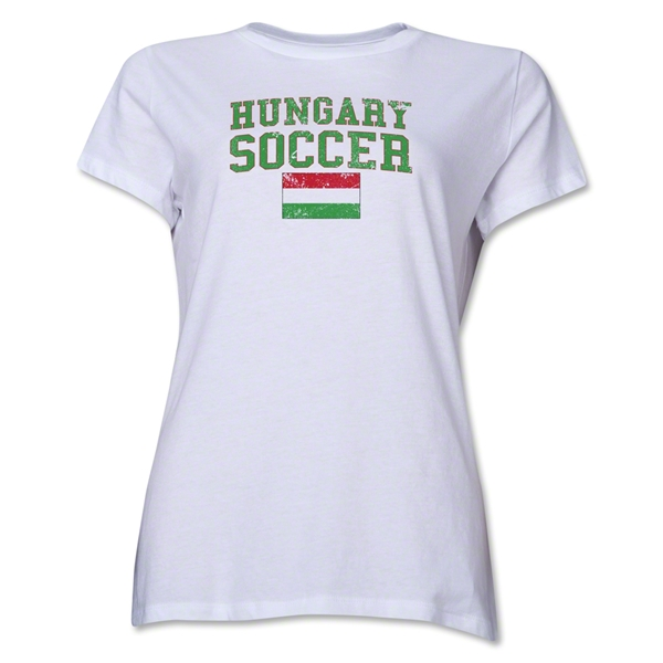 Hungary Women's Soccer T-Shirt (White)
