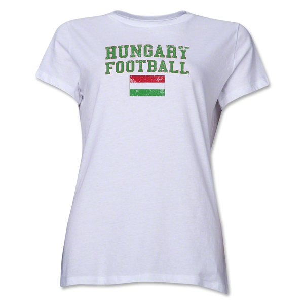 Hungary Women's Football T-Shirt (White)