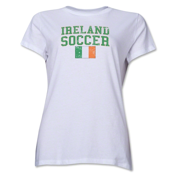 Ireland Women's Soccer T-Shirt (White)