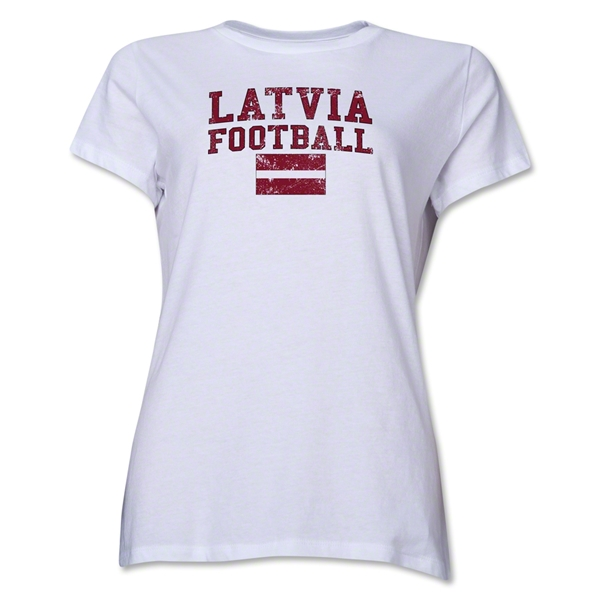 Latvia Women's Football T-Shirt (White)