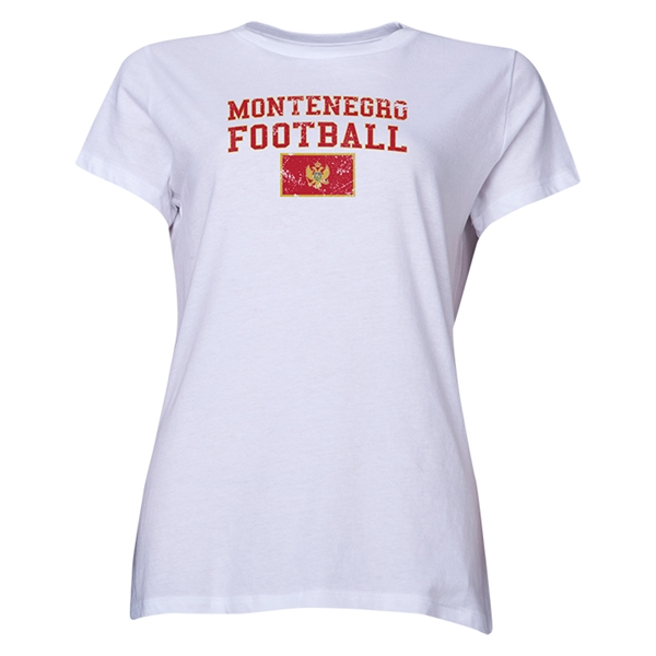 Montenegro Women's Football T-Shirt (White)