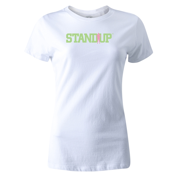 StandUp Green Logo Women's T-Shirt (White)