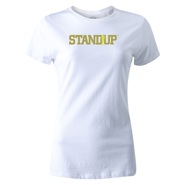 StandUp Olive Logo Women's T-Shirt (White)