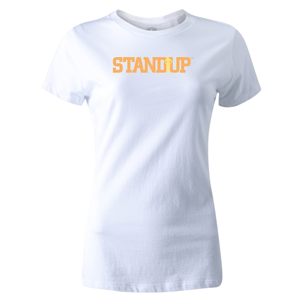StandUp Orange Logo Women's T-Shirt (White)