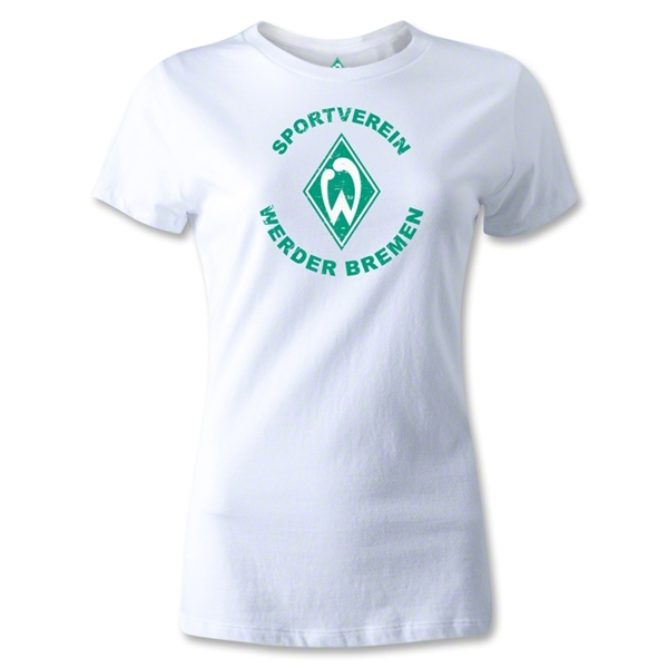 Werder Bremen Distressed Women's T-Shirt (White)