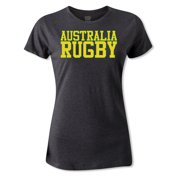 Australia Women's Supporter Rugby T-Shirt (Dark Gray)