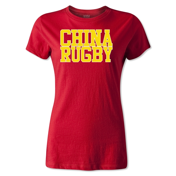 China Women's Supporter Rugby T-Shirt (Red)
