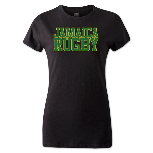 Jamaica Women's Supporter Rugby T-Shirt (Black)