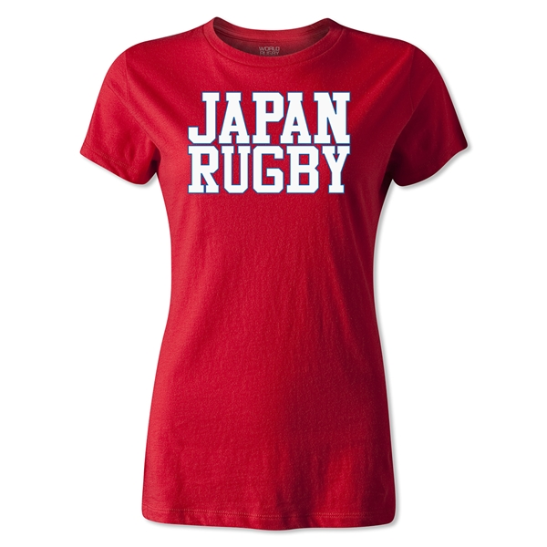 Japan Women's Supporter Rugby T-Shirt (Red)