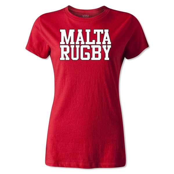 Malta Women's Supporter Rugby T-Shirt (Red)