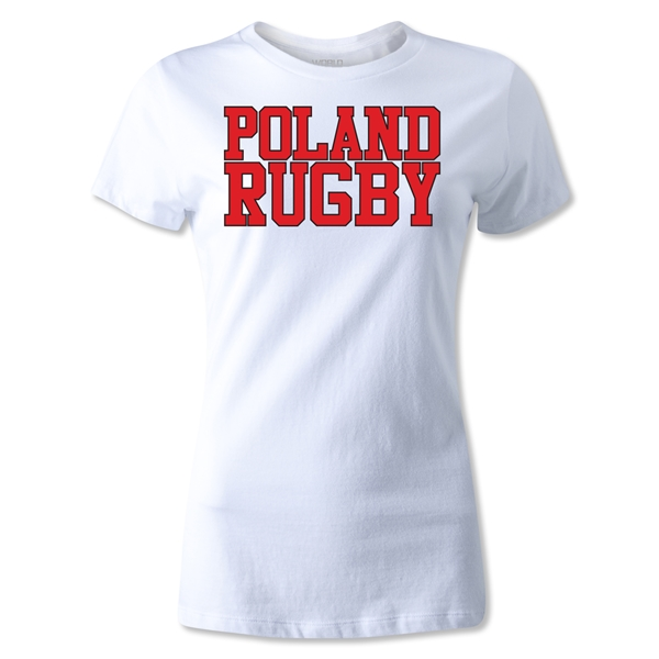 Poland Women's Supporter Rugby T-Shirt (White)