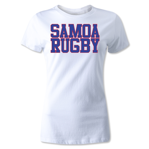 Samoa Women's Supporter Rugby T-Shirt (White)
