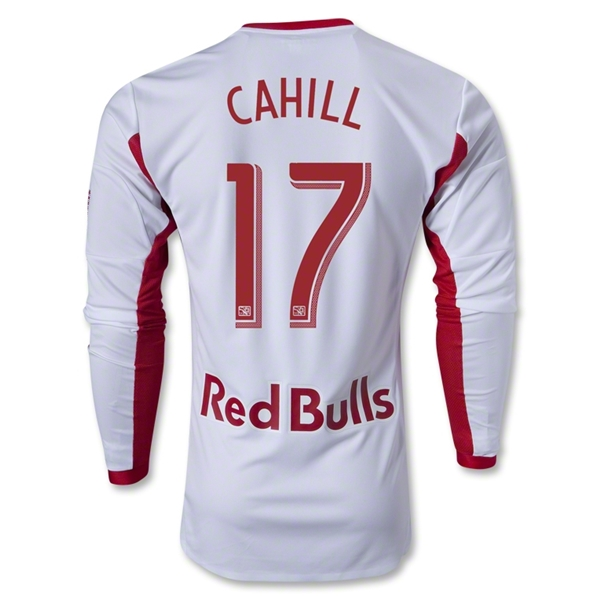New York Red Bulls 2013 CAHILL LS Authentic Primary Soccer Jersey