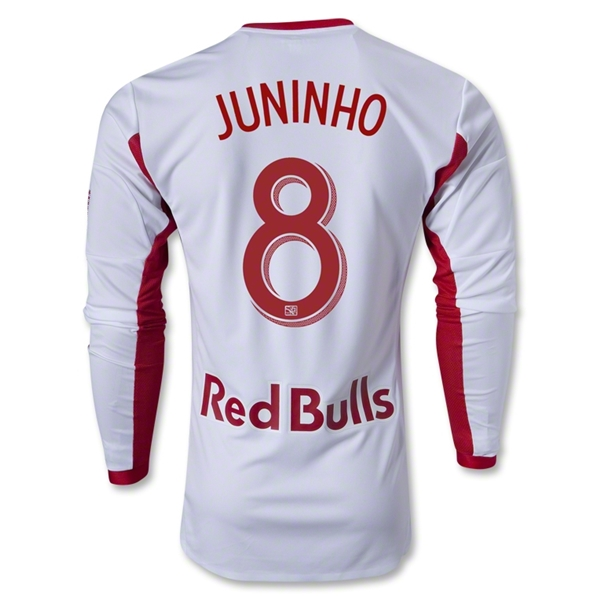 New York Red Bulls 2013 JUNINHO LS Authentic Primary Soccer Jersey