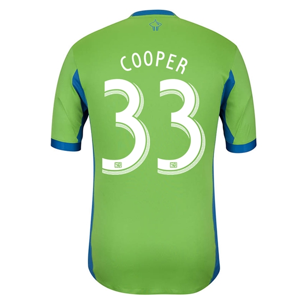 Seattle Sounders 2014 COOPER Authentic Primary Soccer Jersey