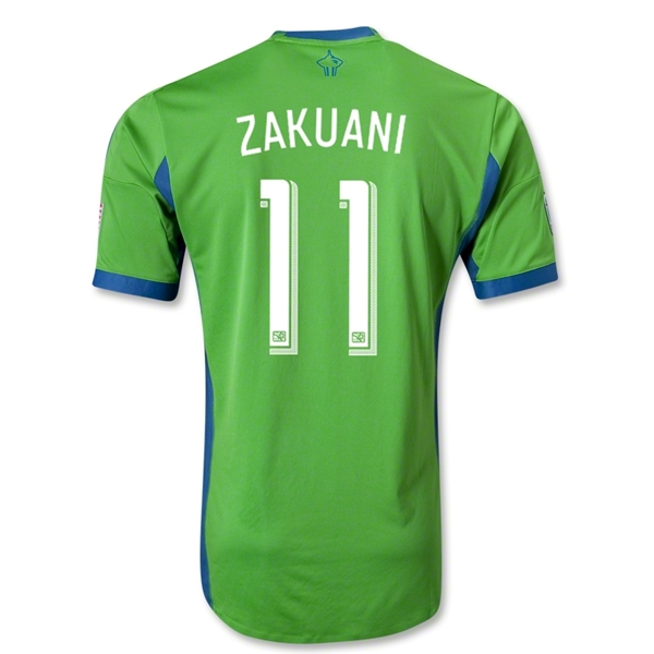 Seattle Sounders FC 2013 ZAKUANI Authentic Primary Soccer Jersey