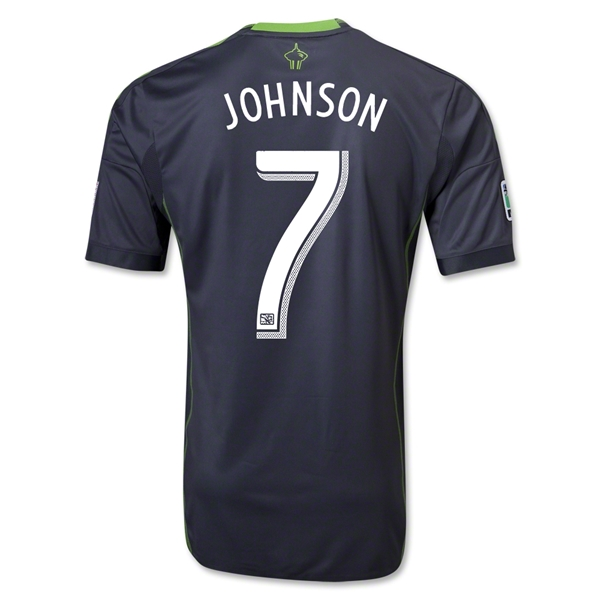 Seattle Sounders FC 2013 JOHNSON Authentic Secondary Soccer Jersey