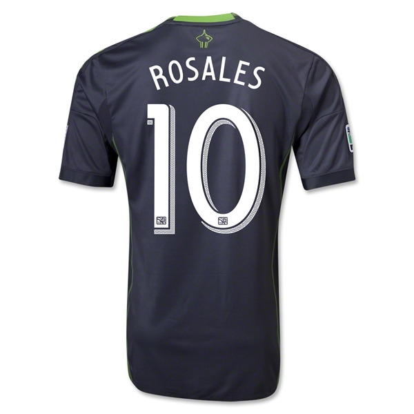 Seattle Sounders FC 2013 ROSALES Authentic Secondary Soccer Jersey