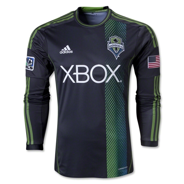 Seattle Sounders FC 2014 Authentic LS Secondary Soccer Jersey