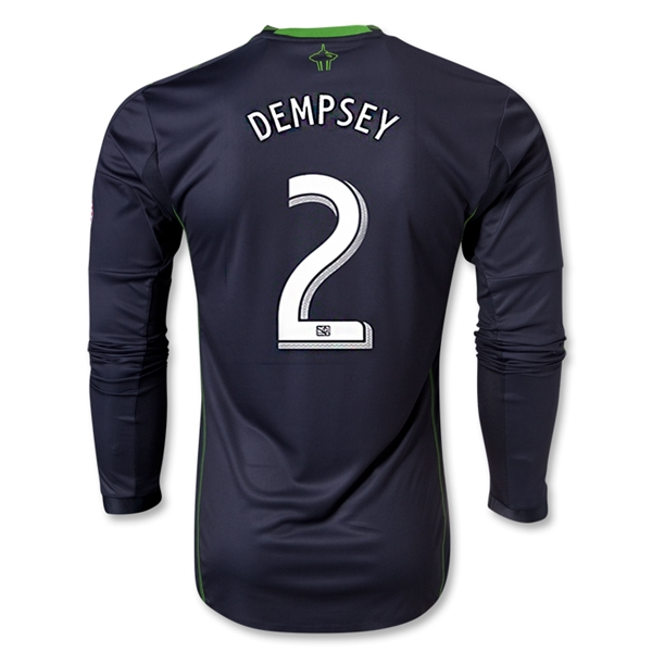 Seattle Sounders FC 2014 DEMPSEY Authentic LS Secondary Soccer Jersey