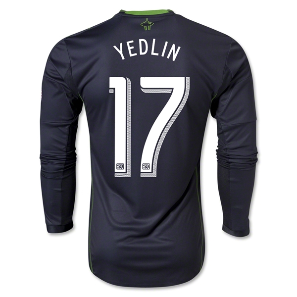 Seattle Sounders FC 2013 YEDLIN LS Authentic Secondary Soccer Jersey
