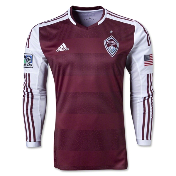 Colorado Rapids 2013 Authentic LS Primary Soccer Jersey