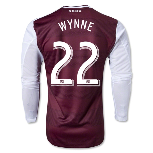 Colorado Rapids 2013 WYNNE LS Authentic Primary Soccer Jersey