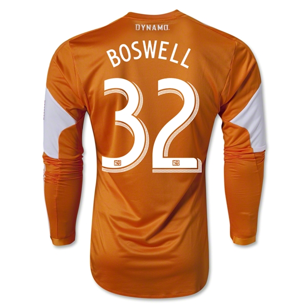 Houston Dynamo 2013 BOSWELL LS Authentic Primary Soccer Jersey