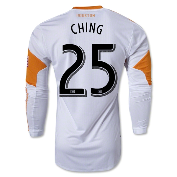 Houston Dynamo 2013 CHING LS Authentic Secondary Soccer Jersey