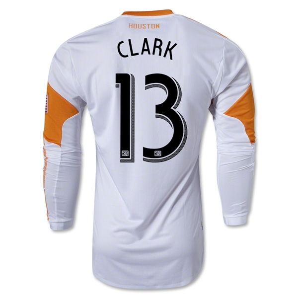 Houston Dynamo 2013 CLARK LS Authentic Secondary Soccer Jersey