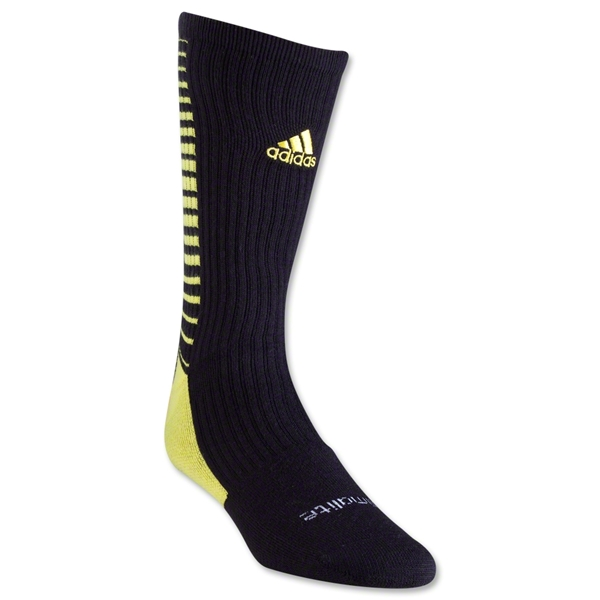 adidas Team Speed Vertical Crew Sock (Blk/Yellow)