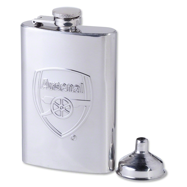 Arsenal Chrome Hip Flask