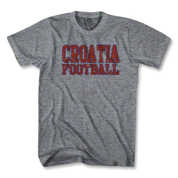 Ultras Croatia Football Vintage T-Shirt (Gray)
