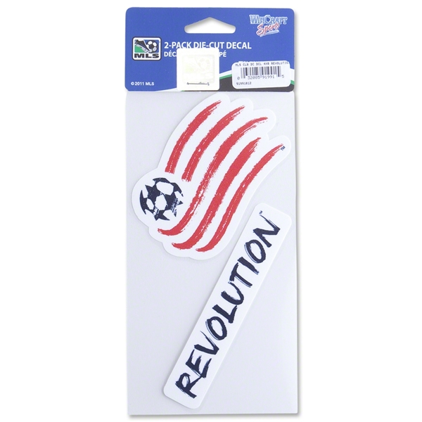 New England Revolution 4 x 8 Die Cut Decal