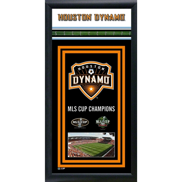 Houston Dynamo Framed Championship Banner