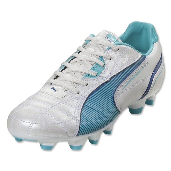 PUMA Spirit Women's FG (Metallic White/Blue)
