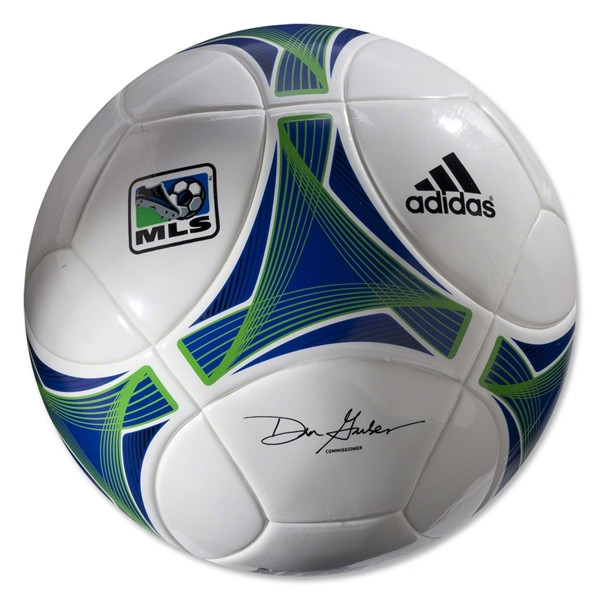 adidas MLS 2013 Top Training Soccer Ball (White/Collegiate Royal)