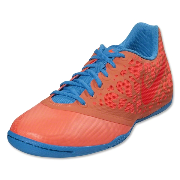 Nike Elastico Pro II Indoor Shoe (Bright Mango/Total Crimson/Blue Glow)