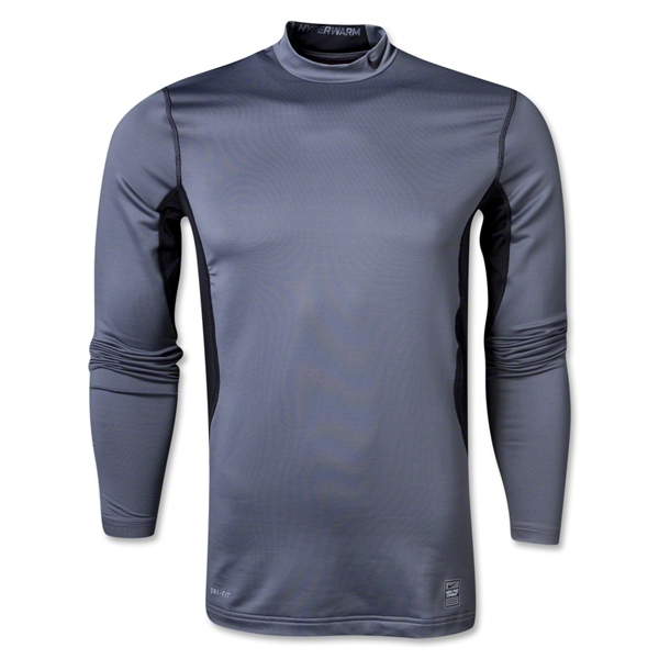 Nike Pro Combat Hyperwarm Compression Mock (Gray)