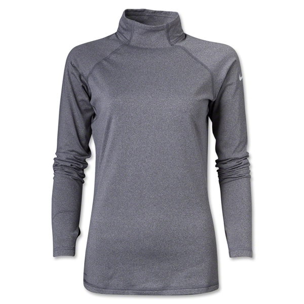 Nike Women's Pro Hyperwarm Mock II (Gray)