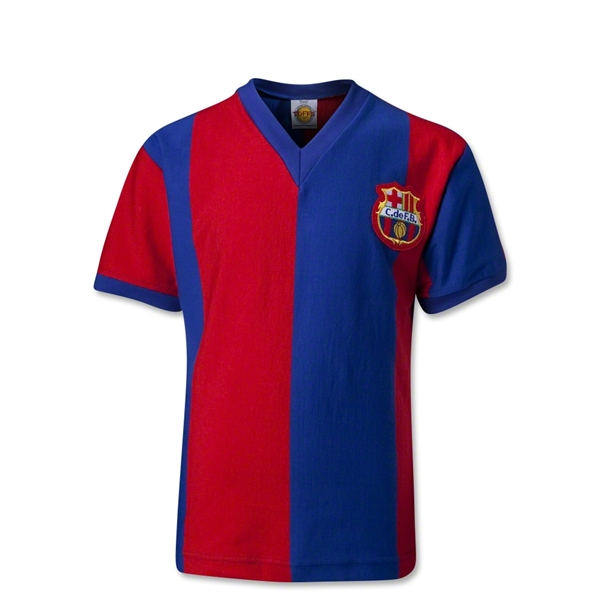Barcelona 70's Youth Home Soccer Jersey