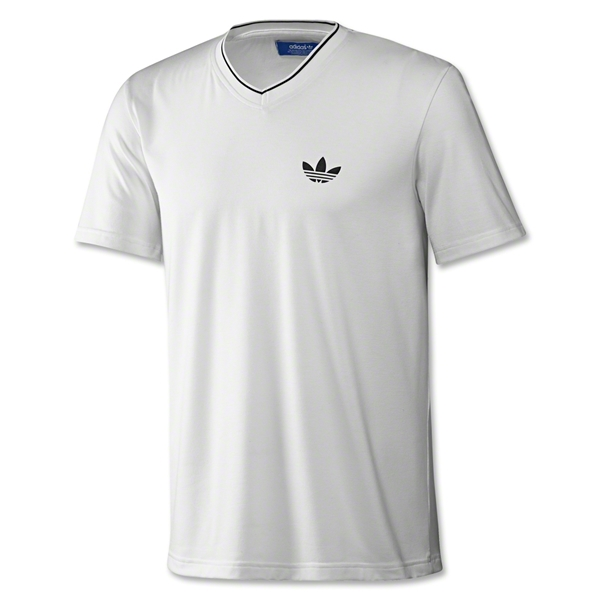 adidas Originals Ultimate V-Neck Trefoil T-Shirt (Wh/Bk)