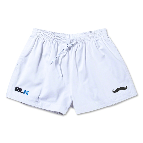 BLK Moustache Rugby Shorts (White)