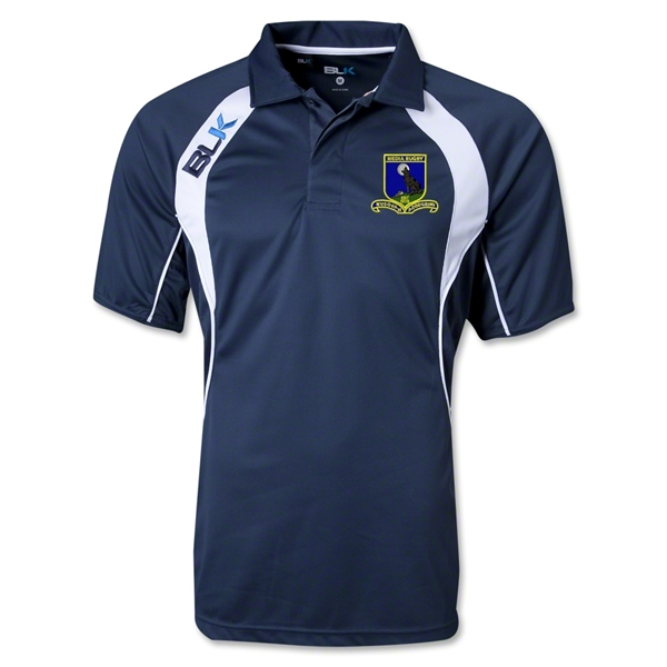 Media Rugby BLK Tek IV Polo (Navy/White)