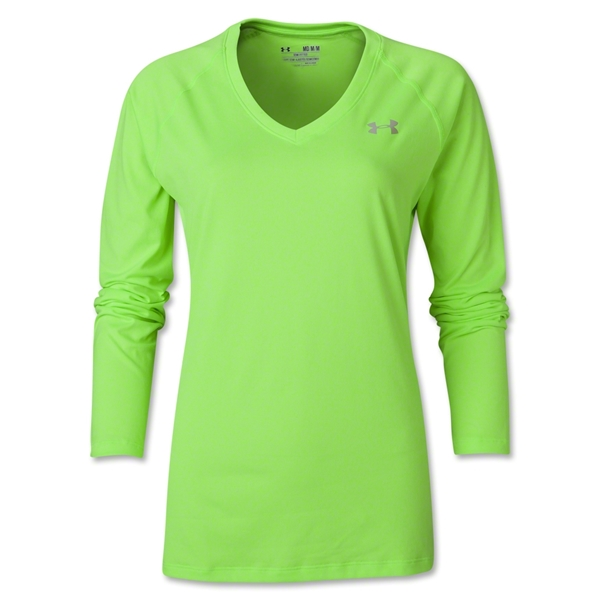 Under Armour Women's Tech Long Sleeve T-Shirt (Neon Green)