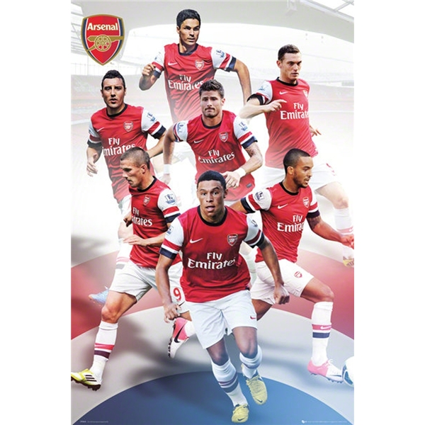 Arsenal 12/13 Players Poster