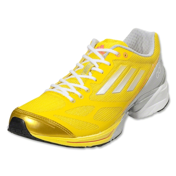 adidas Women's adizero Feather 2 Running Shoe (Vivid Yellow/Metallic Silver)